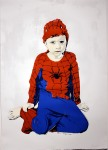 janefontane, jane fontane, young Australian artist, Sydney, newtown paddington, pop art, superhero, art gallery, superman batman robin, captain America, flash, spiderman, comic book art, kudos gallery, college of fine arts, COFA, chances we take, screenprint, child dress-ups, dressing up fantasy